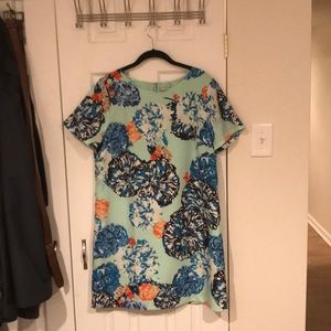 J. Crew floral shift dress